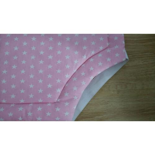 Óvodai lepedő - rózsaszín csillagos (Bélelt ovis lepedő)