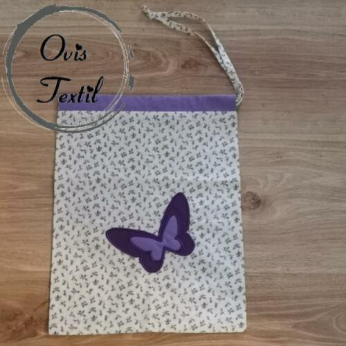 Tornazsák pillangó jellel
